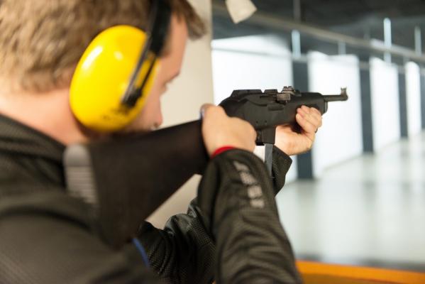 Detail střelce z dlouhé zbraně